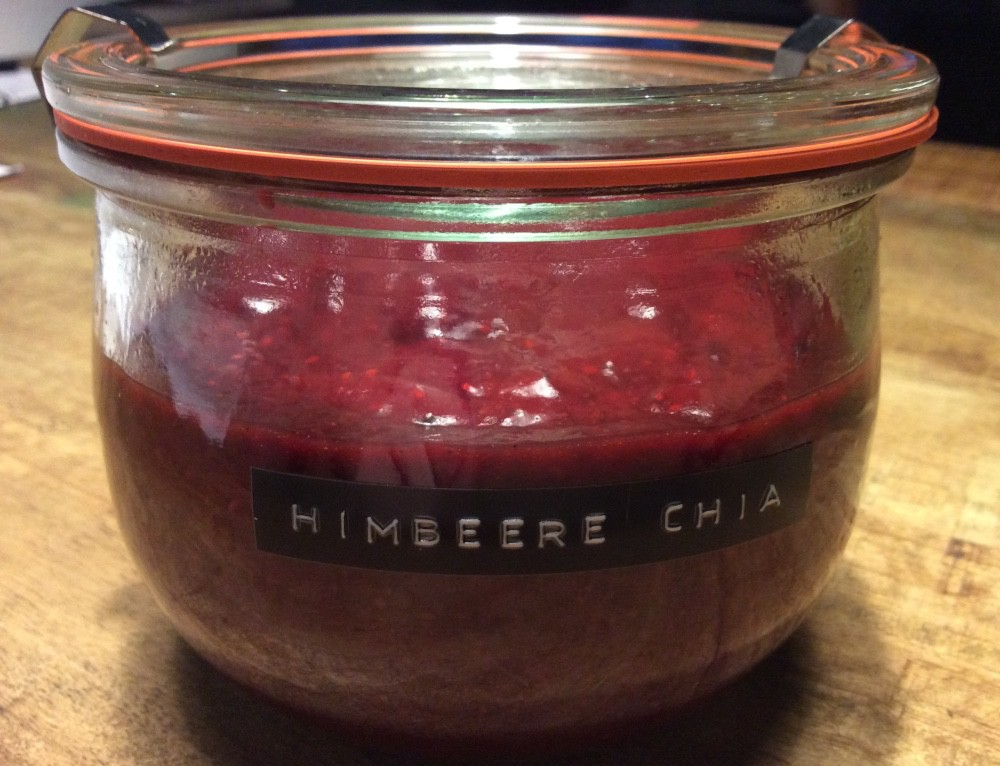Himbeere-Chia-Marmelade