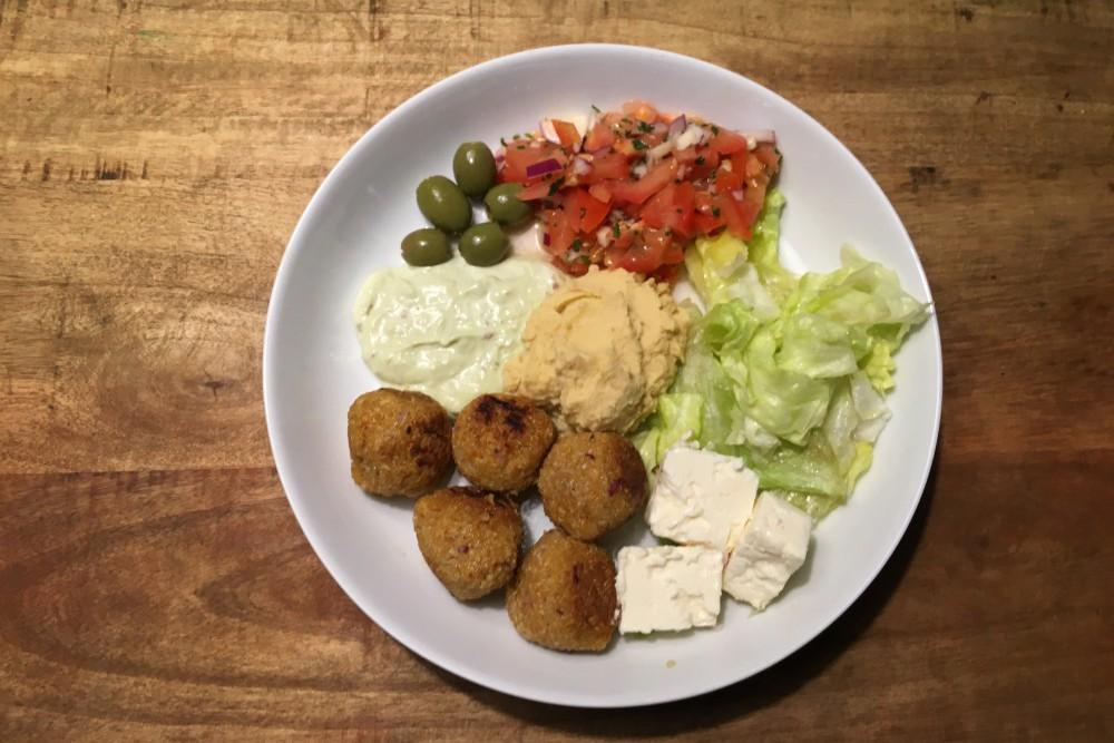 Orient Teller mit Quinoa
