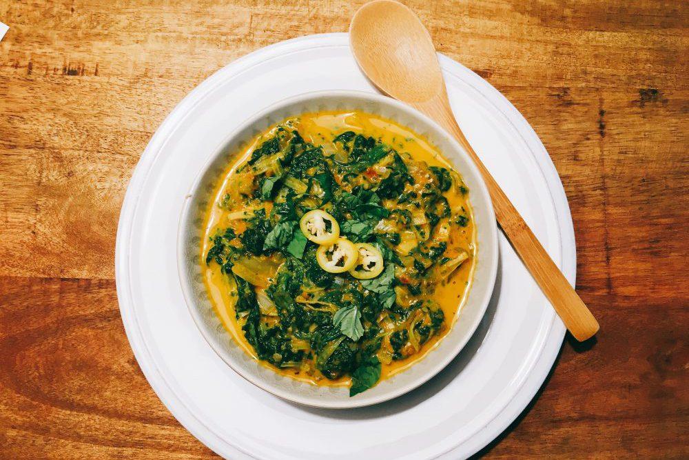 Indische Spinat Lauch Curry Rezept ohne Currypaste